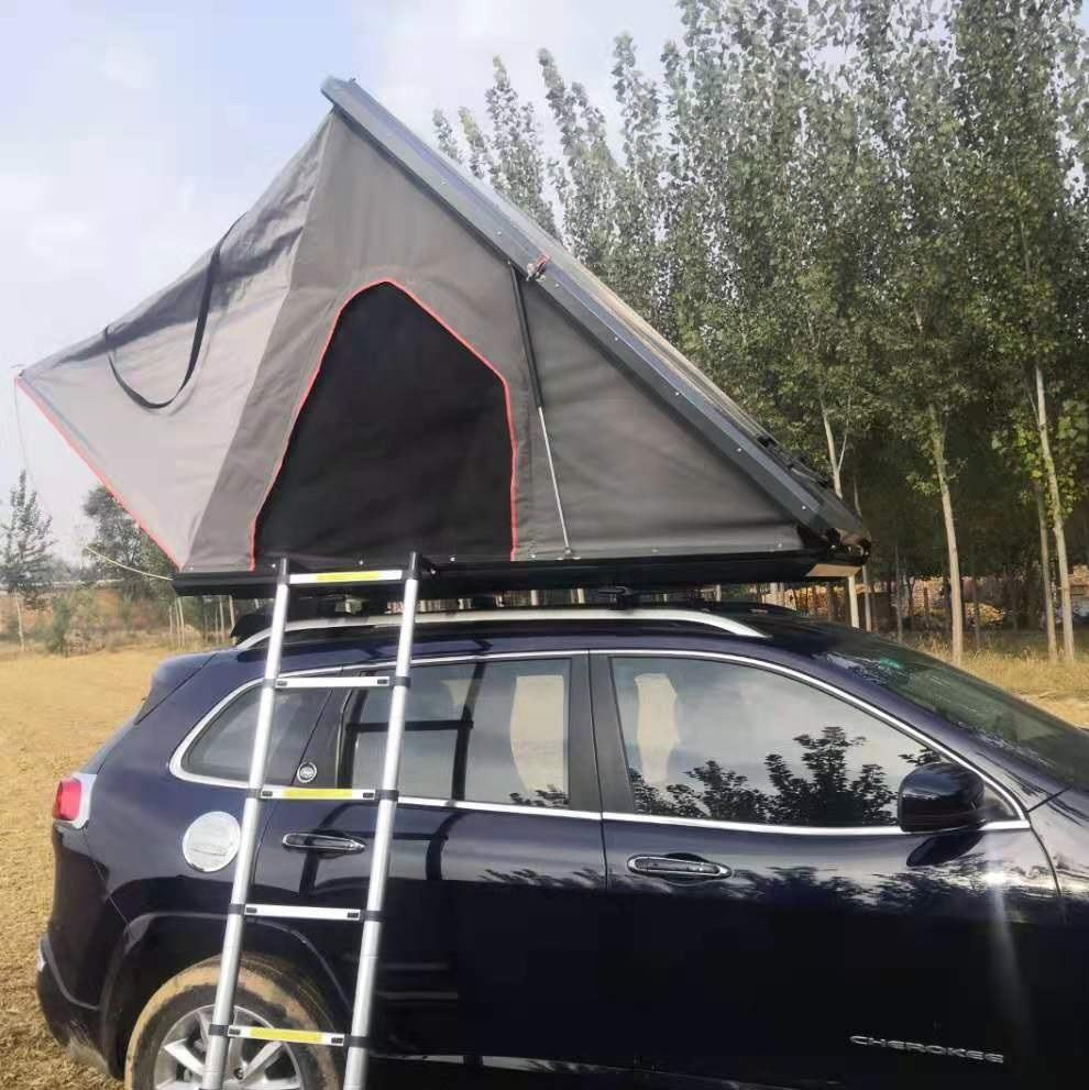 Triangle Hard Shell Roof Top Tent Aluminium Shell roof top tent