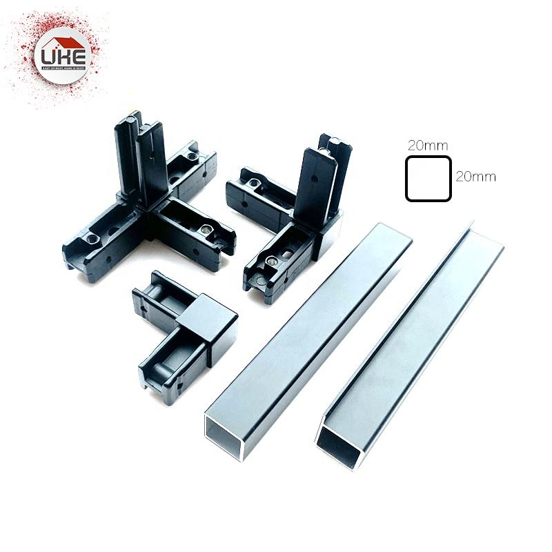 Aluminum square tube profile for cube system 20*20mm with all accessories for DIY cubic cabinet
