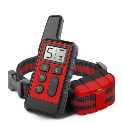 500M Dog Training Collar Pet Electric Remote Control Collar Waterproof Rechargeable Dog Training Tool with LCD Display 30%off