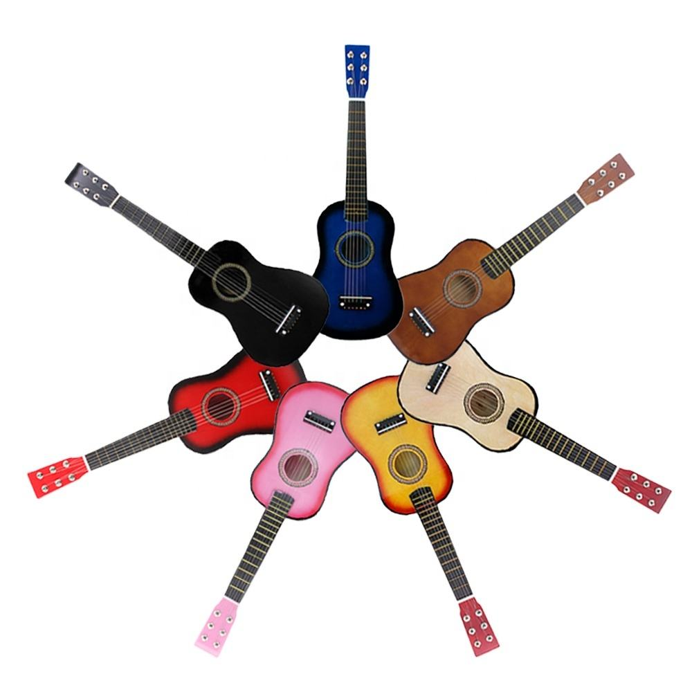 Wholesale price IRIN brand 23 inch toy wood cheap china acustic small guitar for kids gift