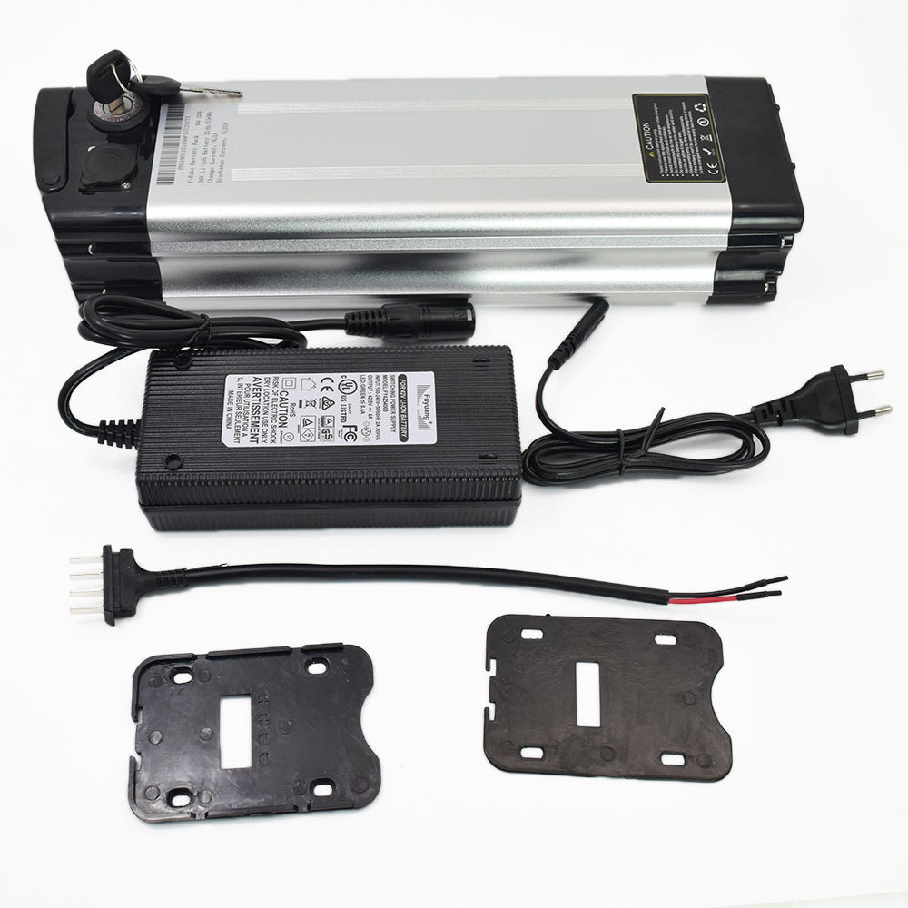 36V 10Ah Silver Fish Lithium Li-ion Battery for 350W Electric Bicycles E-Bike US