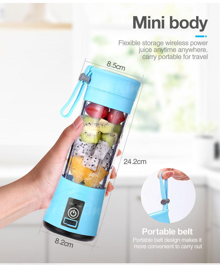 Professional USB Electric Small Portable Mini Ice Smoothie Fruit Juicer Blender Mixer Travel Bottle Hand Beauty Juice Blenders