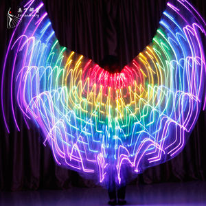 Children Dancers LED Performance Fluorescent Butterfly Wings Carnival Belly Dance Led Costumes