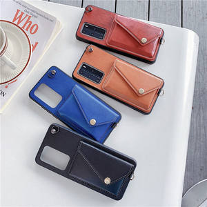 Luxury Wallet Phone Cases for Huawei mate30 mate30Pro With Card Holder Strap Lather Phone Cover