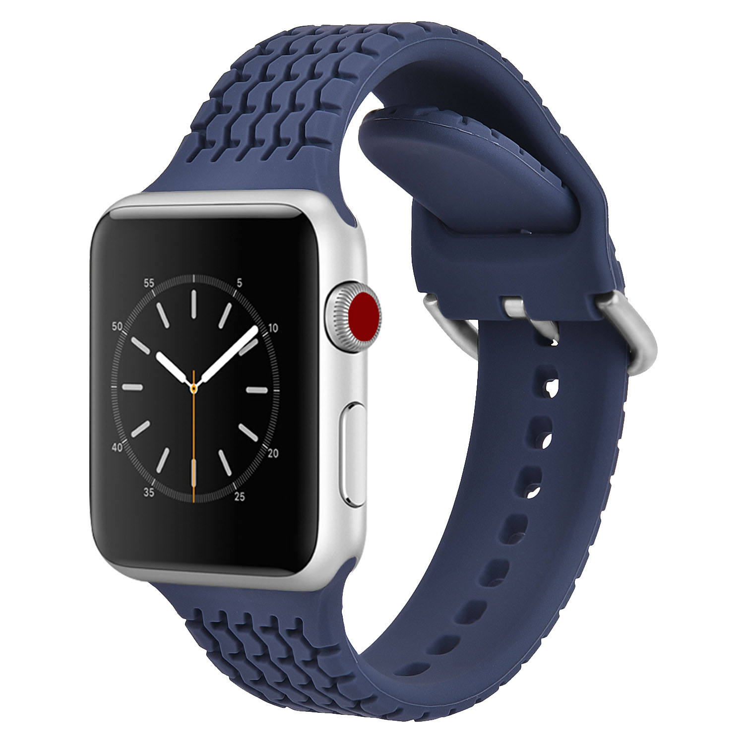 Fashion Cool Tire Grain Silicone Sport Band For Apple Watch Series 3 4 5 6/SE 38mm 40mm 42mm 44mm