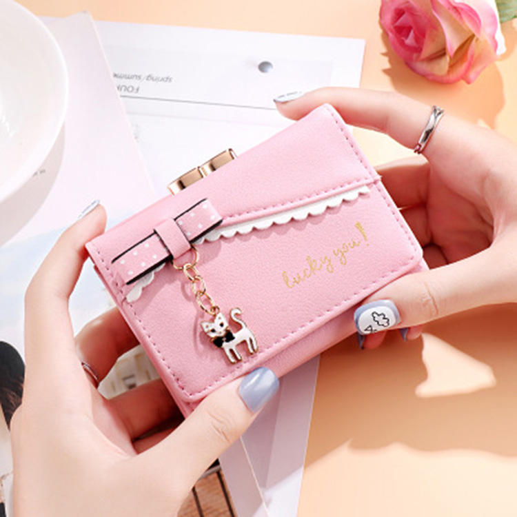 Amazon hot sell mini wallets designs cute ladies pig wallet slim leather purse fashion cute wallets for teen girls