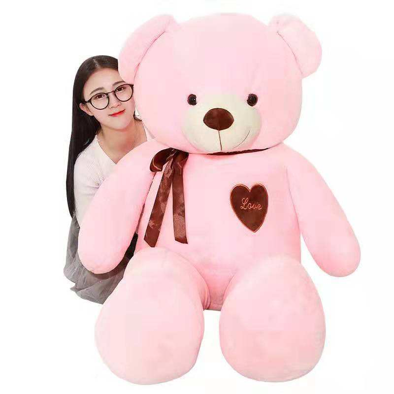 Large size teddy bear plush toy throw pillows wholesale birthday presents to girlfriend