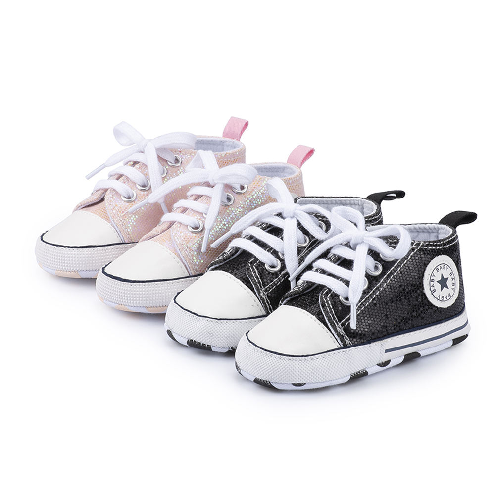 Free sample Casual canvas shoes soft sole 0-2 years kids infant prewalker toddler baby sneaker
