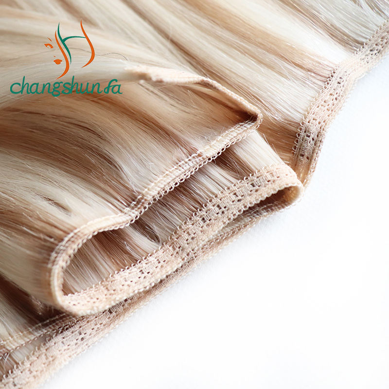 New Lace Double Weft Hair Extensions Weave Hair 100% Remy Cuticle human hair Wholesale