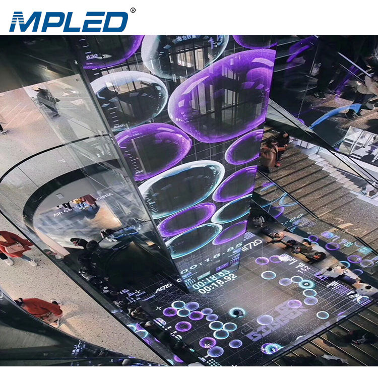MPLED Shopping Mall Advertising Glass Window TV Curtain Price Indoor Transparent Led Display Screen Video Wall Panel