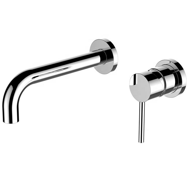 Wall embedded flush basin faucet brass basin faucet in wall Single Handle Mixer Tap Bathroom Water mixer