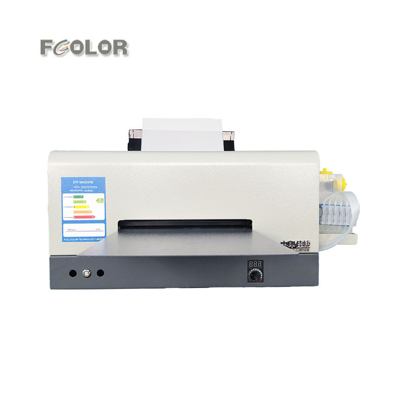 2021 Fcolor Digital A4 Roll To Roll Film White Powdra Inkjet L1800 PET Film Desktop DTF Printer
