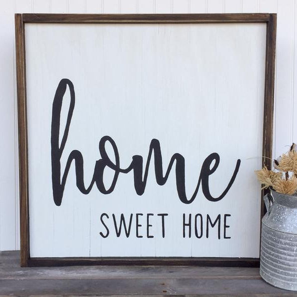 Rustic Home Sweet Wood Sign Blank sign