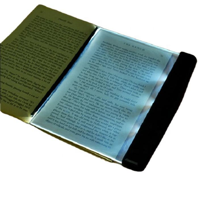 Book reading light Portable plastic transparent Panel led book light