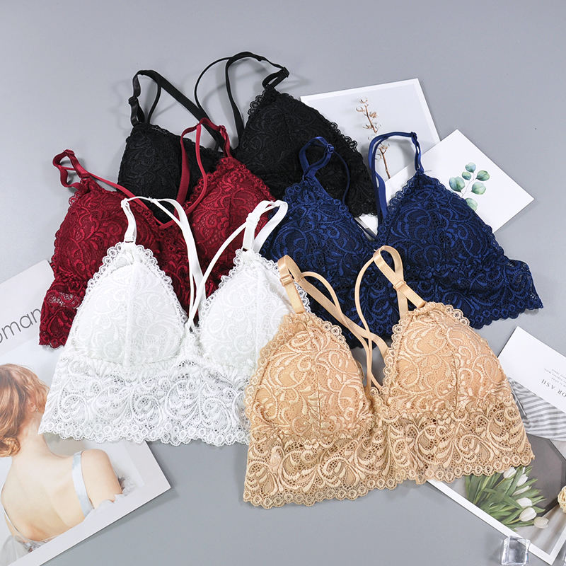Wholesales polyamide spandex romantic sexy young ladies lace bralette soft Lace Bra