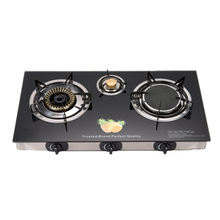Custom or standard low weight reasonable price components 3 burner steel burner gas stove for hotel