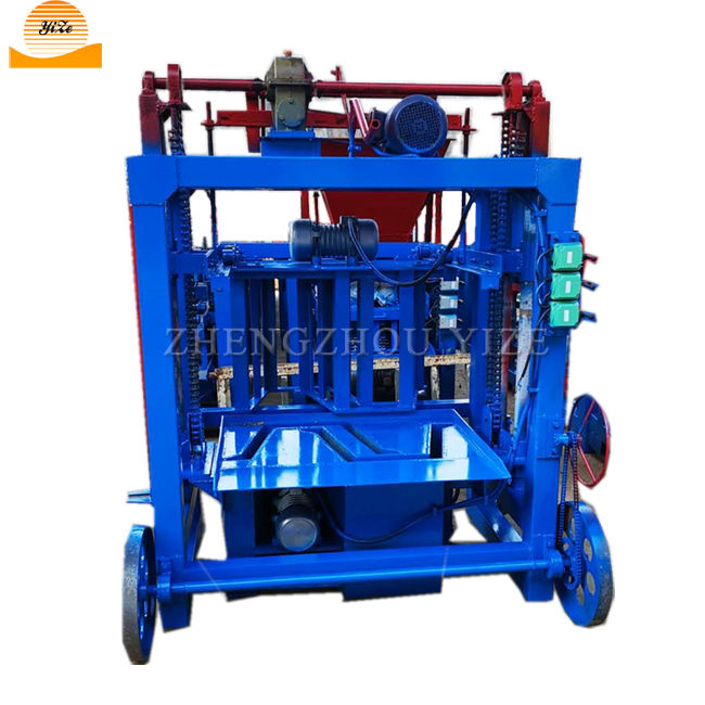 fired sand cement burnt bricks brick making line Soil concrete brick maker hollow interlock block moulding machine in zambia