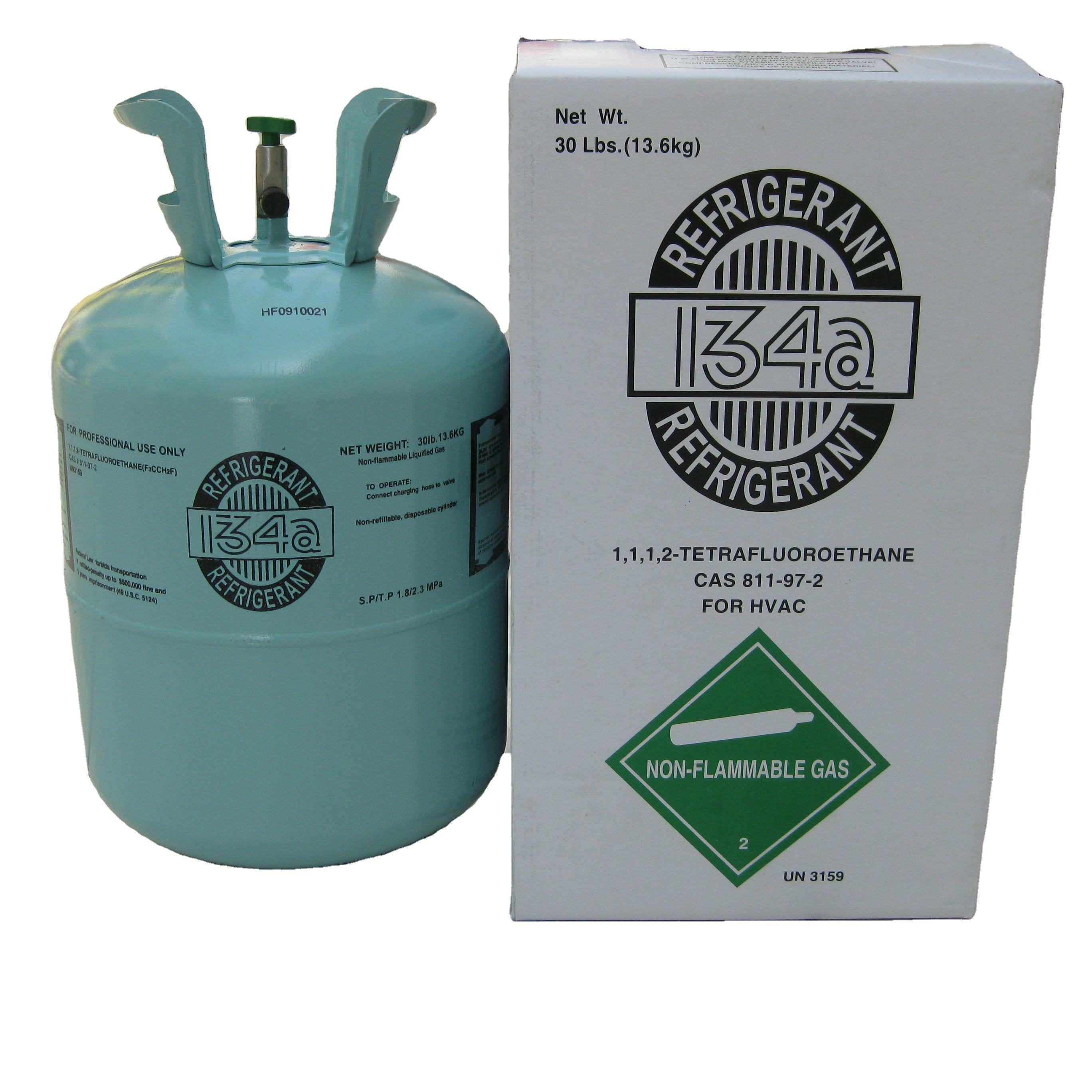 99.9% Purity 6.8kg/15lbs Disposable Cylinder Qfreon 134A Refrigerant Gas R134A 6.8KG