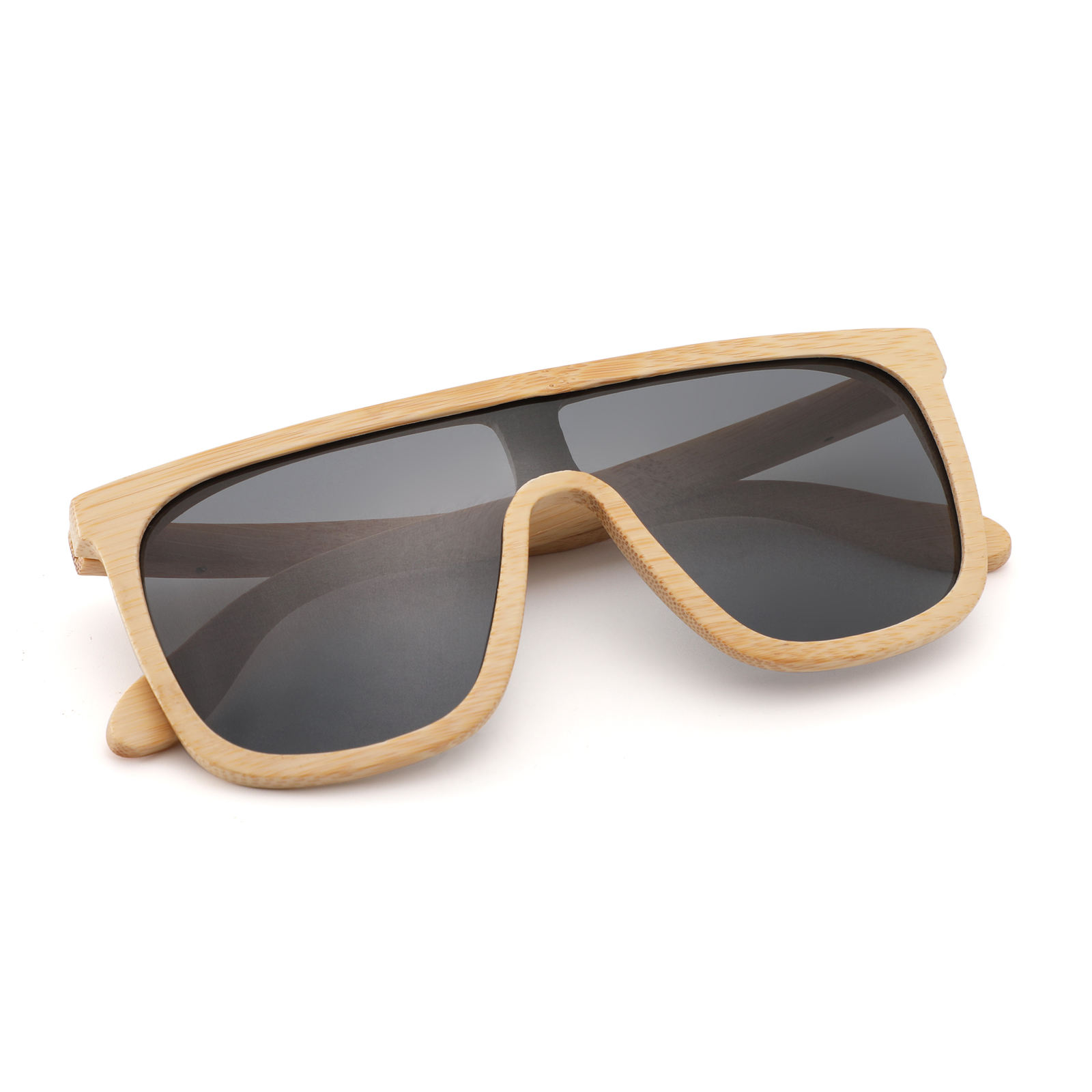 2020 Wood Eyewear One Piece Polarized Custom Logo Wooden Sunglasses