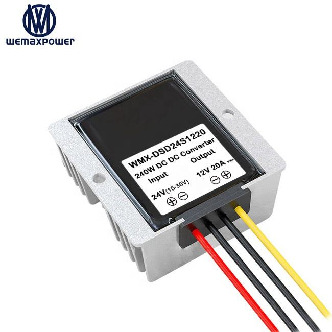 WEMAXPOWER Lorry truck motor car buck module 20A 240W dc dc 24v to 12v step down converter