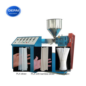 Plastic PP PLA Three Color Drinking Straw Making Machine