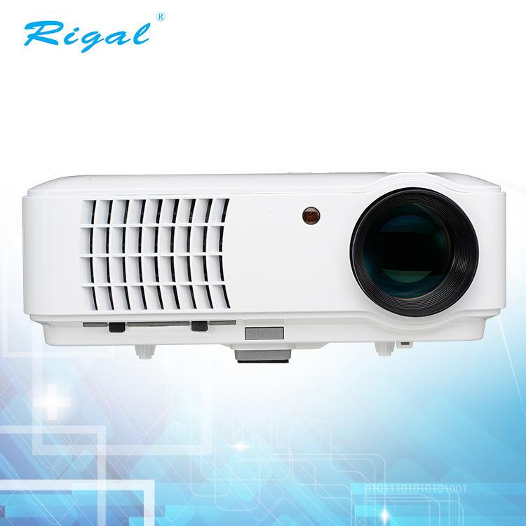 цена Full HD 3D светодиодный проектор для мобильного телефона 4,2 1024*768 с мульти-входным беспроводным подключением к Wifi