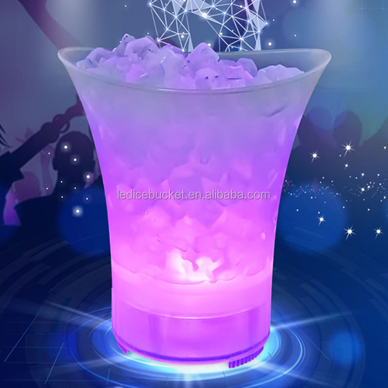 Bar Party Decorative Acrylic Plastic Beer Wine Champagne Led Ice Bucket Speaker