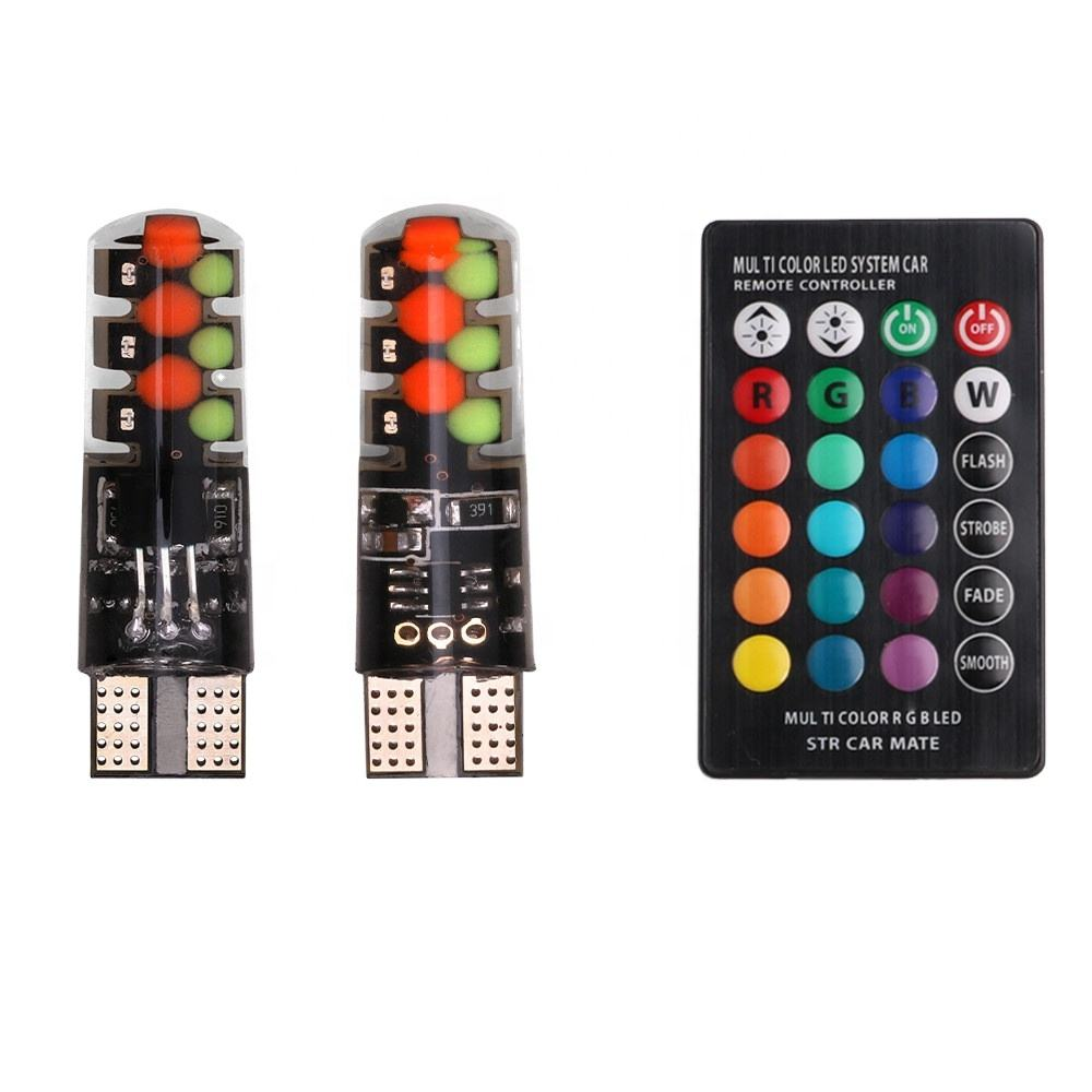 RGB 5050 LED <span class=keywords><strong>T10</strong></span> <span class=keywords><strong>W5W</strong></span> Fernbedienung LED <span class=keywords><strong>T10</strong></span> Canbus <span class=keywords><strong>T10</strong></span> LED Lampe