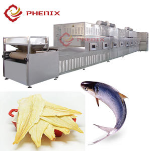 High Quality Food Dehydrator Seafood Fish Shrimp Textured Meats Tunnel Microwave Drying Machine From Phenix Machinery