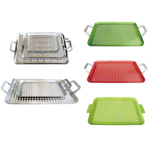 Wholesale custom stainless steel bbq grill pans barbecue grill basket BBQ baking pans