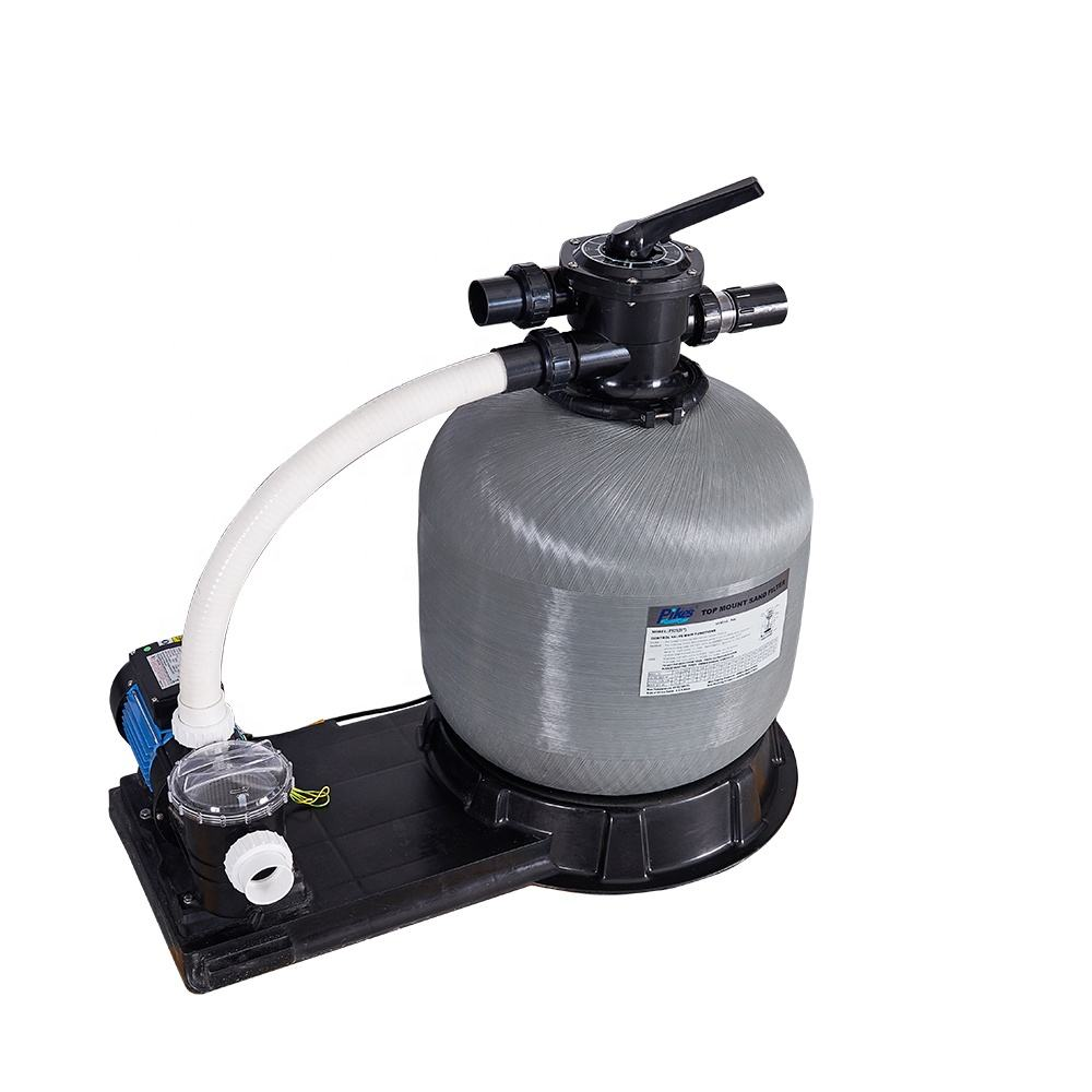 Durable Cheap Fiberglass Swimming Pool Equipment Top Mount Sand Filter with Pump