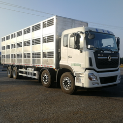 dongfeng aluminum body 2 floors optional 9.6m 8 x 4 livestock and poultry pig animal transport truck