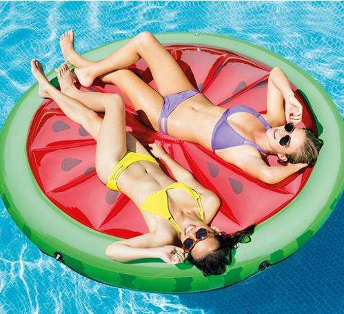 PVC Inflatable Pizza Pool Float Rafts Outdoor Swimming Pool Inflatable Float Toy Floatie Lounge Toy For Kids and adult
