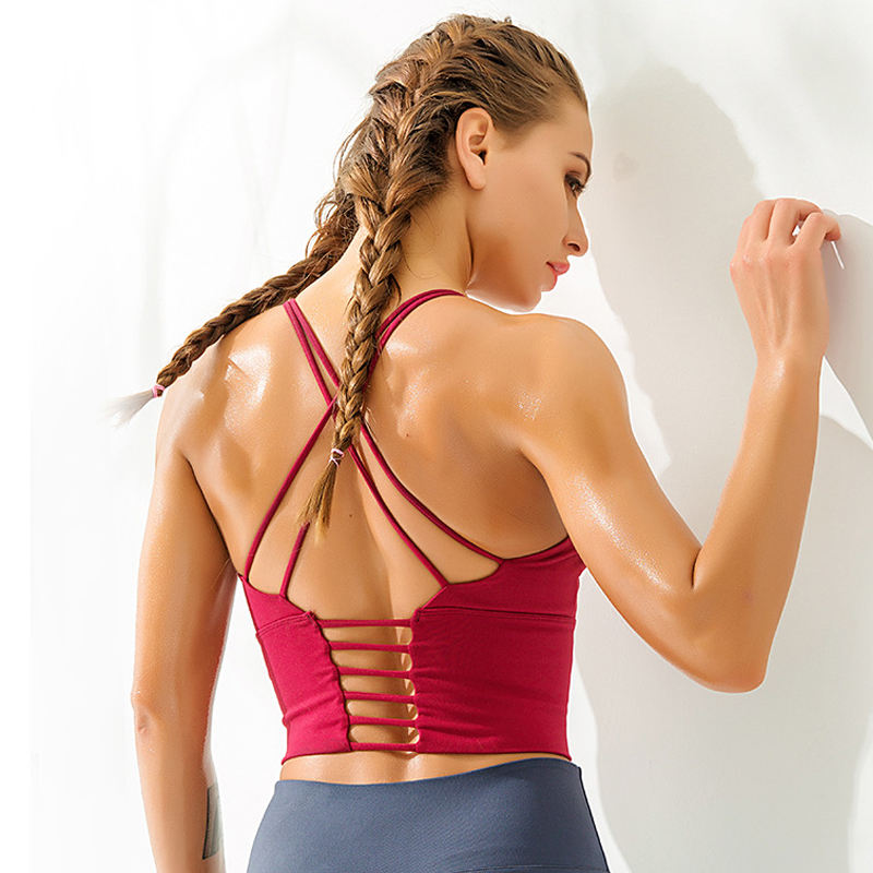 Wholesale Sosten Mujer Anti Bacterial Damas Yoga Bra Top Fitness Supporter Ropa Interior De Damas Women Sports Yoga Bra