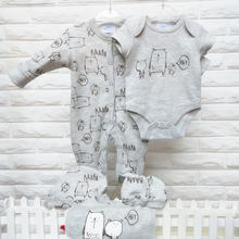 new born Infant baby clothes sets baby romper 5pcs Newborn Baby Gift Set