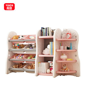 kids daycare furniture Sets Baby Toy Storage Kids Storage Cabinet Plastic kids Bookshelf
