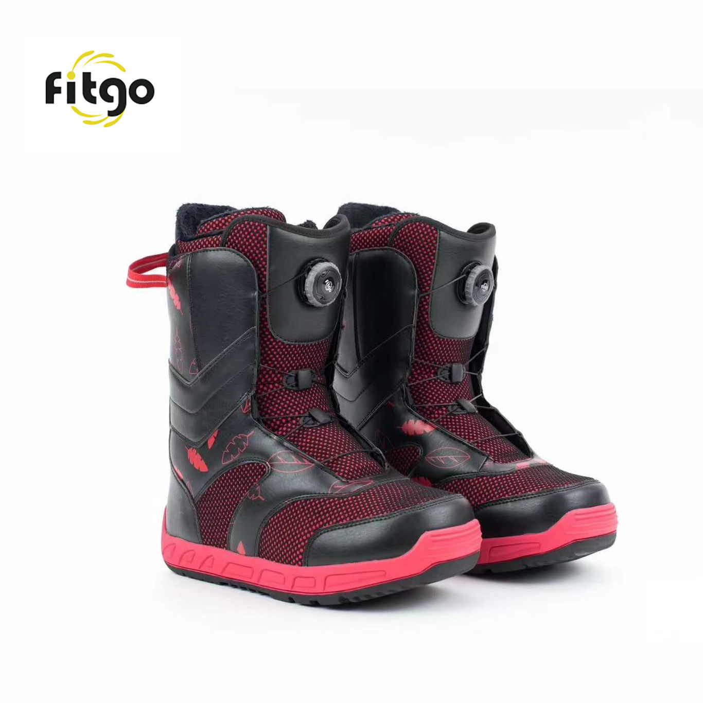 Fitgo Fasten System Lazy Round BOA Laces No Tie Shoelaces For Military&Ski Boots
