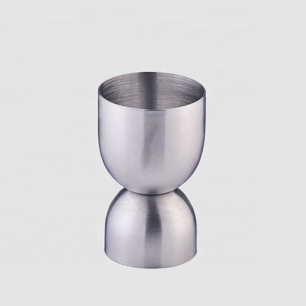 Factory Direct 1oz 30 ml bacardi stainless steel balance bell peg measuring shot cup ounce bar cocktail jigger