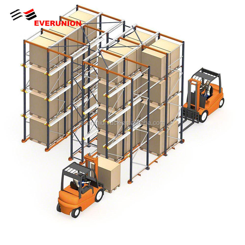 Heavy Duty Beam Shelving Rack / Selective Pallet Racking/Drive in Racking for Warehouse Storage