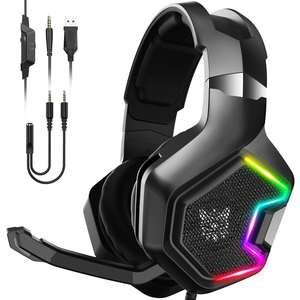Cheap Cute Wireless Bluetooth Stereo Custom RGB LED 3.5mm PS4 USB Gaming Headset for Gamer K10 Pro