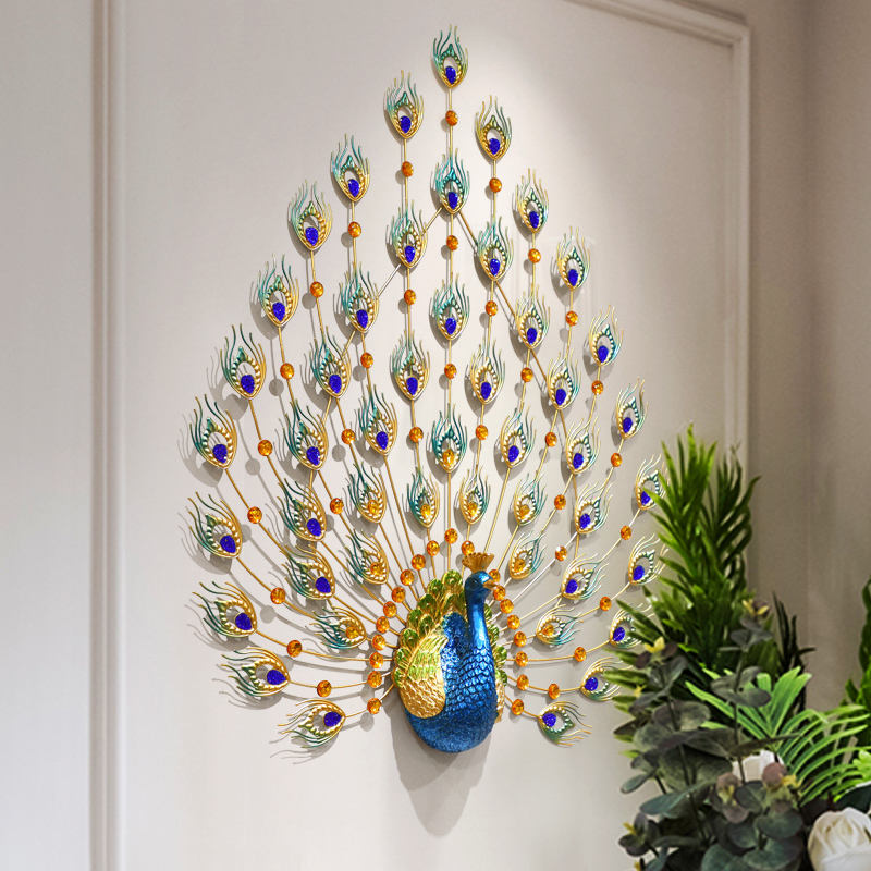 Auditorium Lobby Porch 3D Peacock Modeling Wall Hanging Art Home Decoration