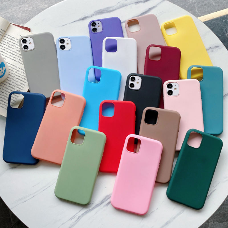 Voor Samaung Fundas Cover Voor Iphone 7 8 Xr Xs Tpu Custom Schokbestendig Mobiele Telefoon Siliconen Case Voor Apple Iphone 11 12 Mini Pro Max