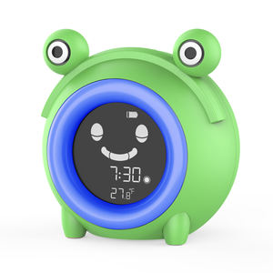 Manufacturer Direct Wholesale Cute and Creative Sleep Trainer Kids Sleep/Wake up Digital Kids Clock With Indoor Temperature