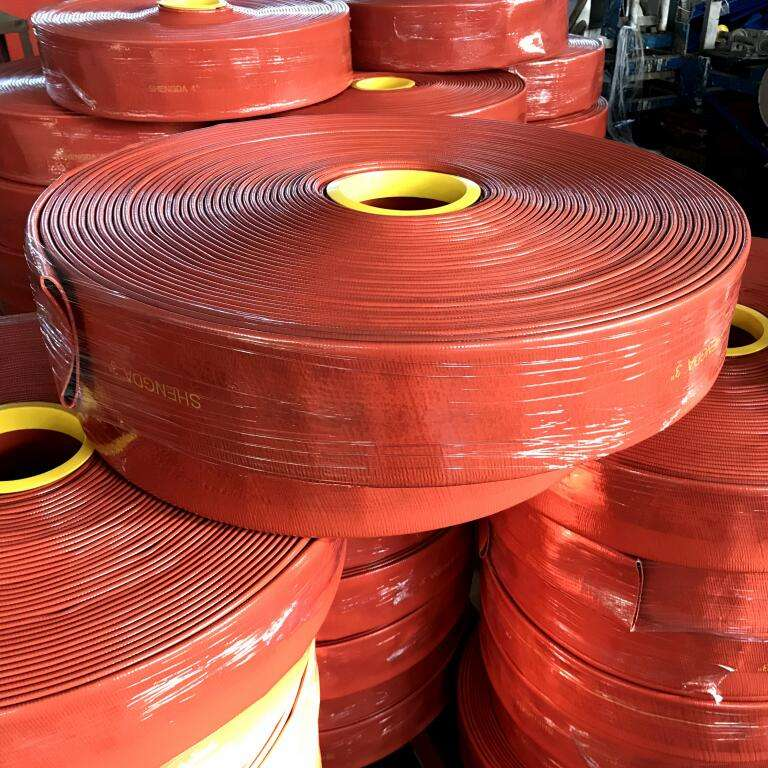 High Pressure Irrigation Hoses Flexible PVC Lay Flat Diameter 100 mm Used For Heavy Duty Industrial Agriculture Water Supply