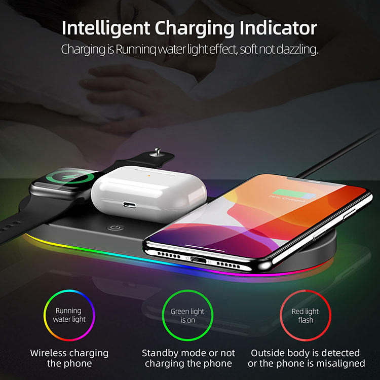 Wireless Charger 4 In 1 15w High Speed Multifunctional Mini Wireless Charger Receiver
