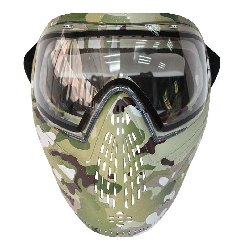 Mask Paintball and Airsoft Mask With Anti-fog Double Lens Dual Elastic Strap