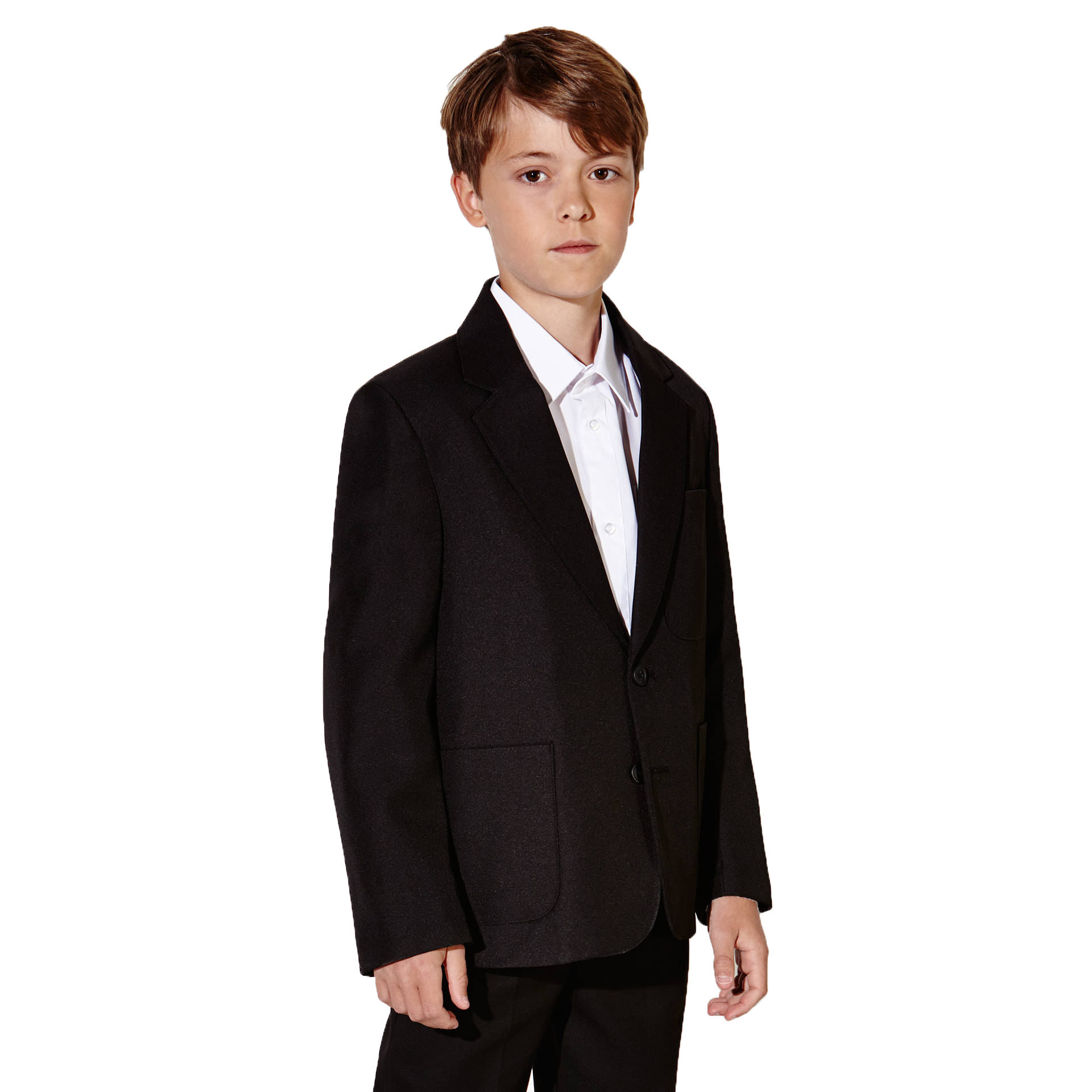 School Blazer Boys School Uniform Set With Patch Pockets