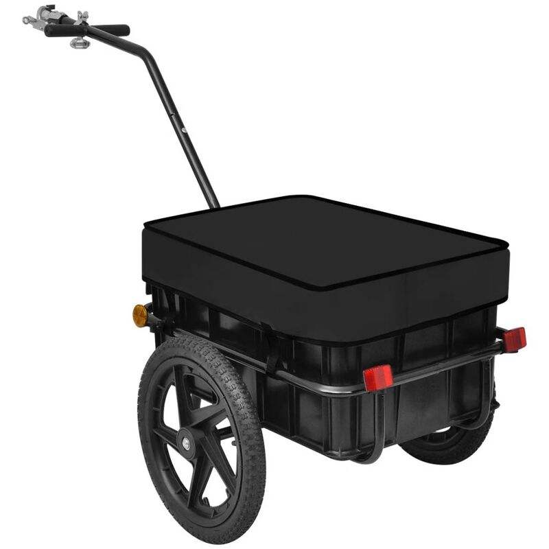 Outdoor Bike Bicycle Cargo Luggage Trailer with Removable Transportation Box and Cover