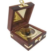 Customized Brass boxed compass. Luxury style Engraved Brass Nautical Antique Graduation day Confirmation Gift Compass.