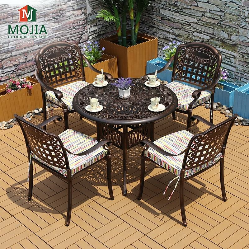 Cheap Outdoor Furniture Modern Patio Table And Chair Cast Aluminum Garden Furniture Set For Restaurant